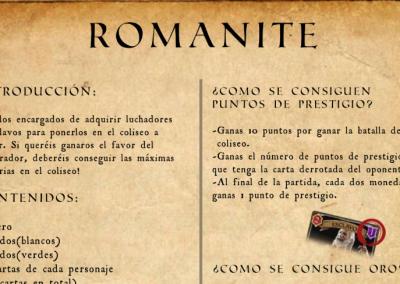 Manual d'instruccions del joc de taula 'Romanite'