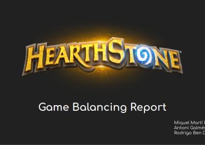 Presentació d'Informe de Game Balance: Hearthstone